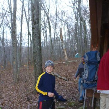 scouts preparing to hike the Appalachian Trail