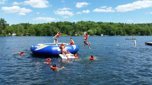Simsbury Boy Scouts Troop 174 trampoline swimming