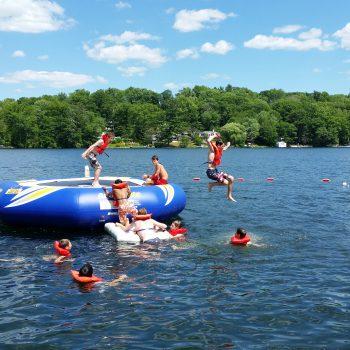 Simsbury Boy Scouts Troop 174 trampoline swimming